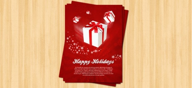 Christmas flyer psd template PSD file | Free Download