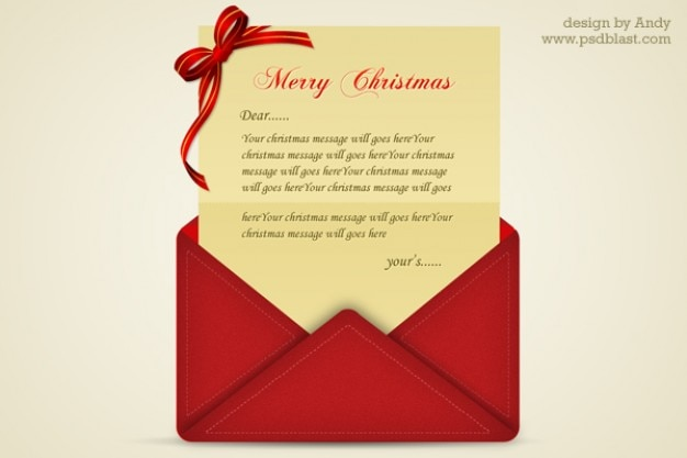 Christmas greetings letter psd psd file free download christmas greetings letter psd free psd m4hsunfo