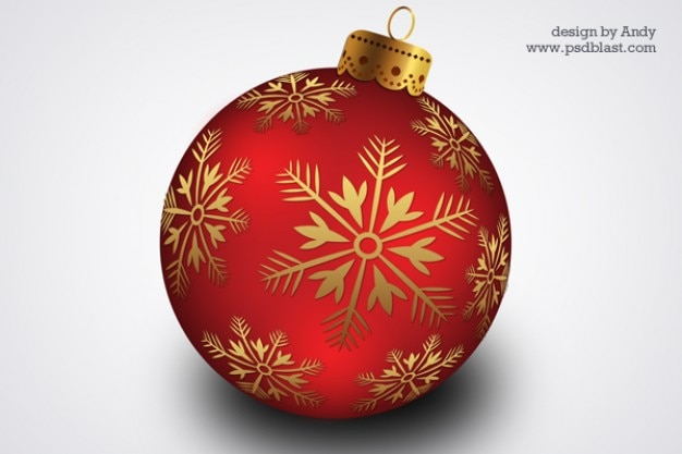 christmas hanging ball psd Free Psd
