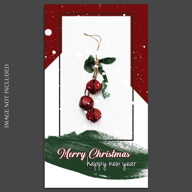 Christmas and happy new year 2019 photo mockup and instagram story Premium Psd
