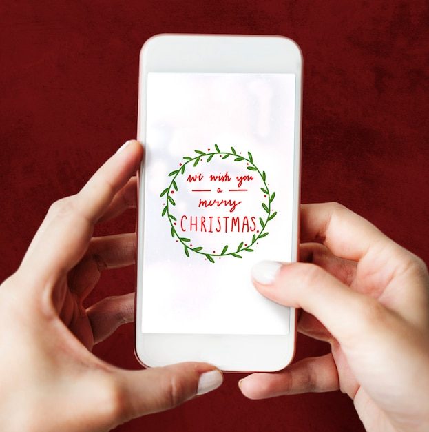 Christmas holiday greeting design mockup Free Psd