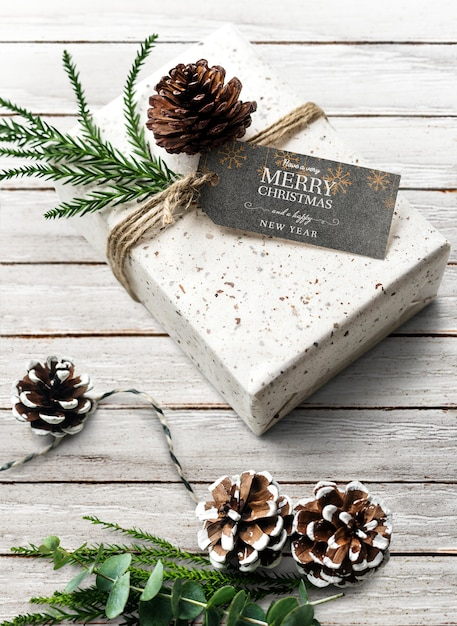 Christmas holiday greeting design mockup Free Psd