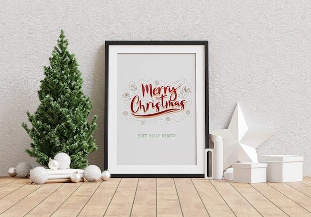Christmas holiday greeting frame design Free Psd