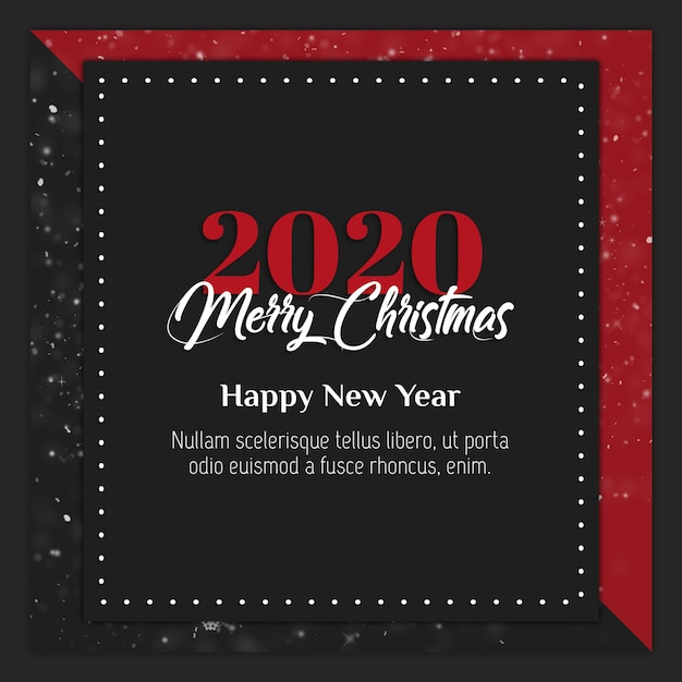 Christmas Instagram Post Card Or Banner Template PSD File