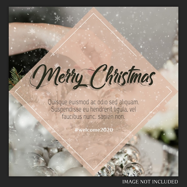 Christmas instagram post card Premium Psd