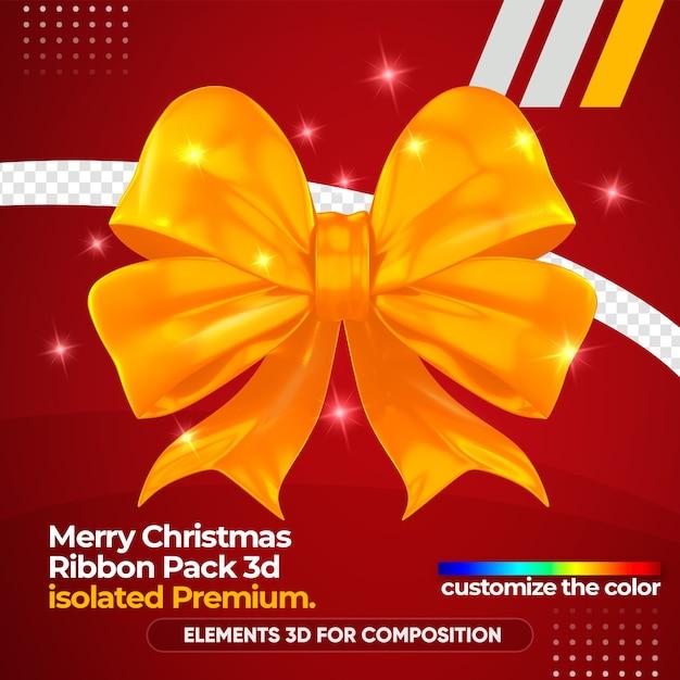 3d 렌더링 모형의 크리스마스 로고 프리미엄 PSD 파일