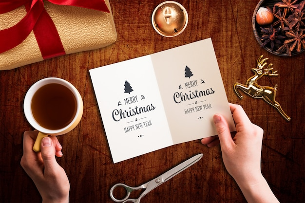 Christmas mock-up Premium Psd