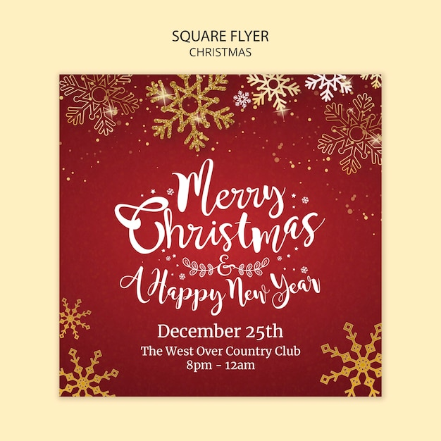 Christmas poster template concept Free Psd