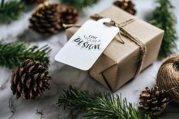 크리스마스 선물 태그 무료 PSD 파일