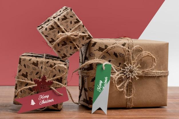 크리스마스 선물 배열 무료 PSD 파일