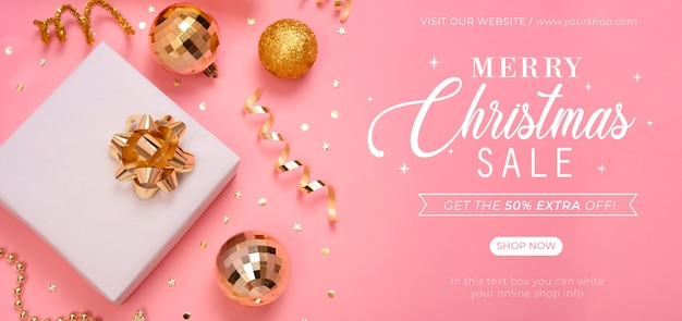 Christmas sale banner cover page website. Premium Psd