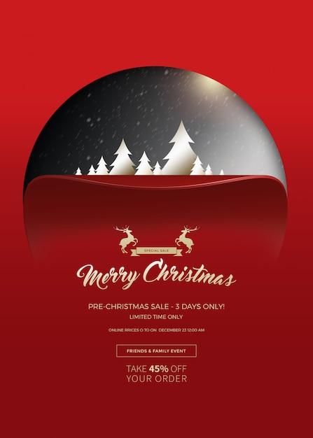 Christmas sale banner Premium Psd