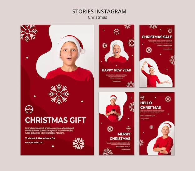 クリスマスセールのinstagramストーリー Premium Psd