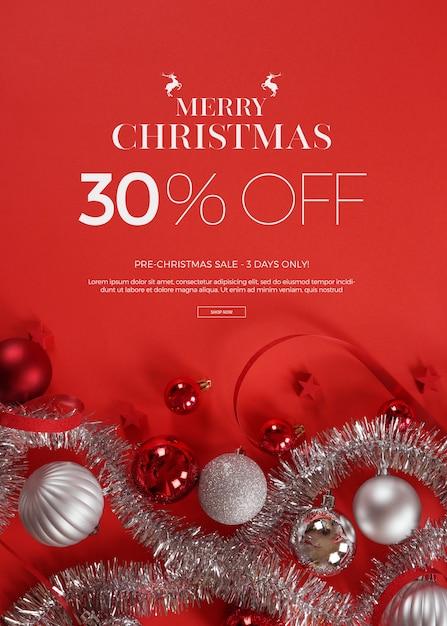 Christmas sale Premium Psd