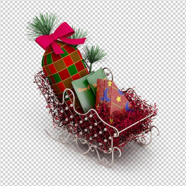 Christmas sleigh Premium Psd