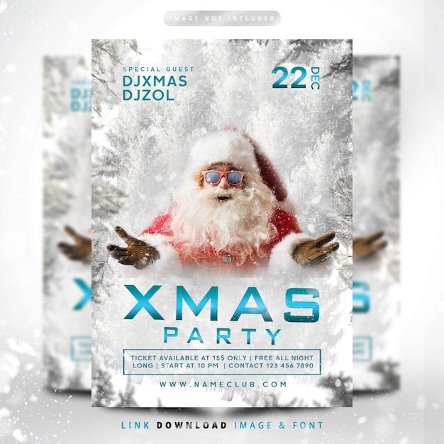 Рождественский снегопад вечеринка премиум Premium Psd
