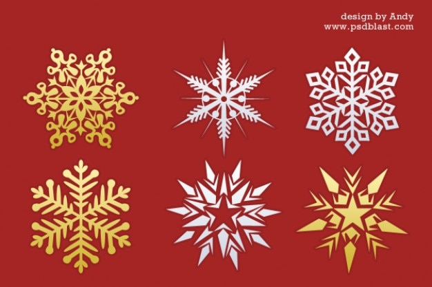 Christmas Snowflakes Psd File Free Download