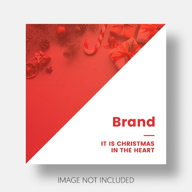 Christmas social media post template instagram Free Psd