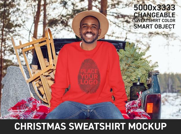 크리스마스 스웨터 mockup 무료 PSD 파일