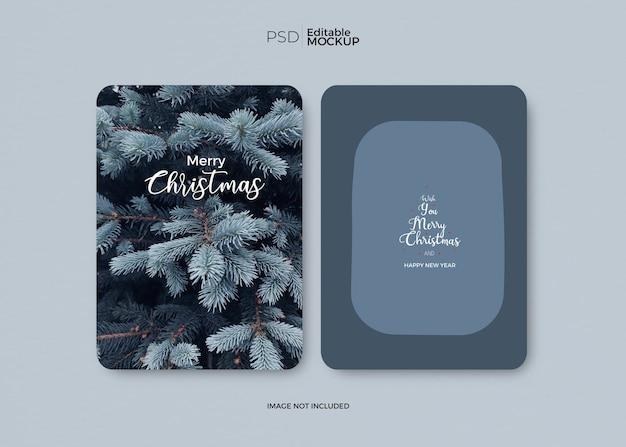 Рождественский макет шаблона Бесплатные Psd