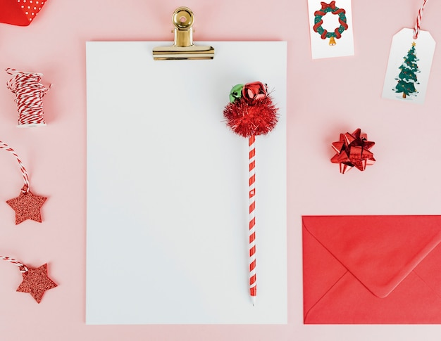 Christmas themed stationeries Free Psd