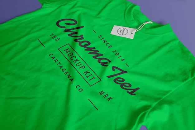 Chromatees tshirt mockup Free Psd