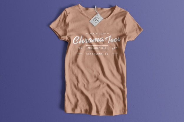 Chromatees футболка макет Бесплатные Psd
