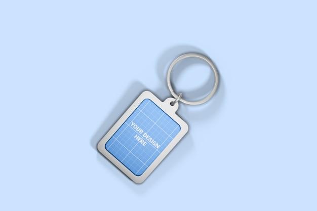 Chrome keychain mockup Premium Psd