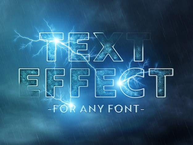 Cinematic text effect mockup Premium Psd