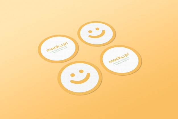 Circle mock up business card Free Psd