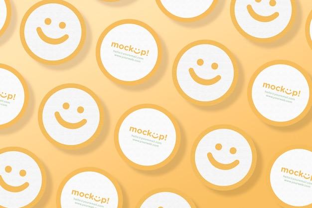 Circle mock up business card Free Psd