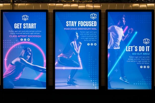 Городской рекламный щит макет концепции Бесплатные Psd