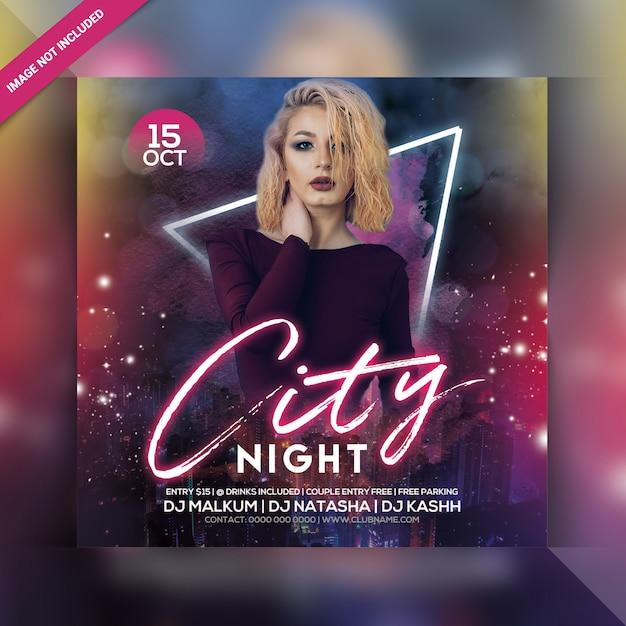City night party flyer Premium Psd