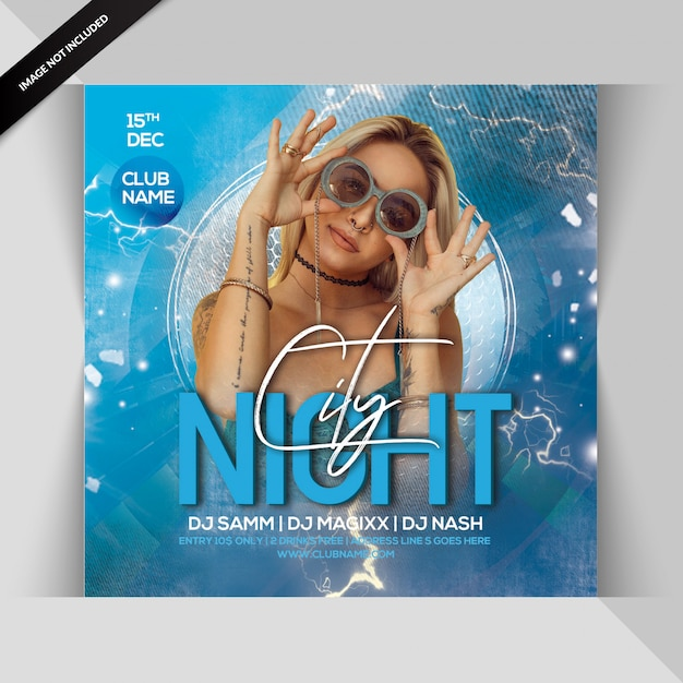 City night party flyer Premium Psd