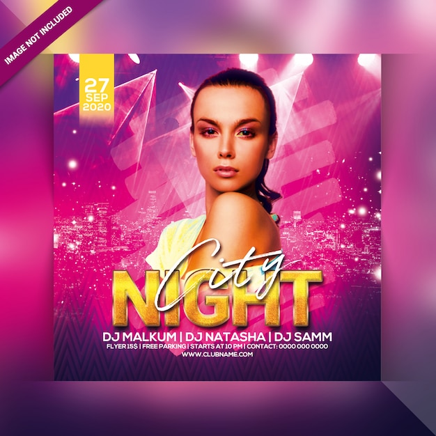 City nights party flyer Premium Psd