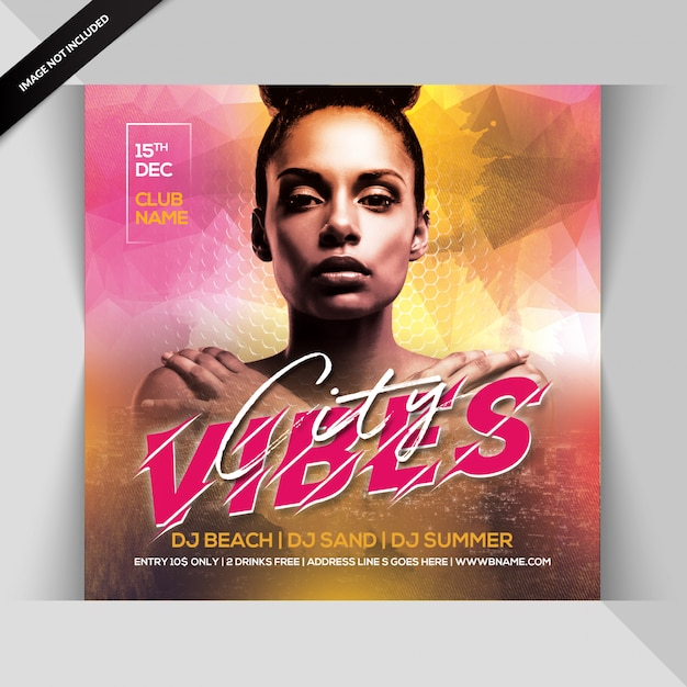 City vibes party flyer Premium Psd