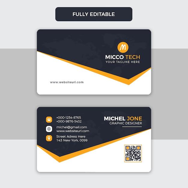 Classic business card Premium Psd