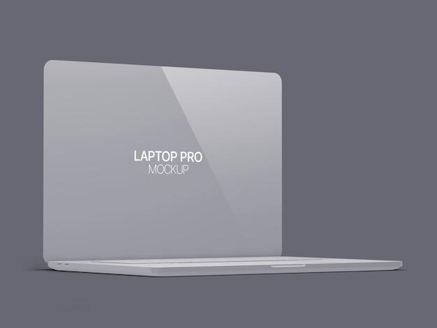 クレイラップトップモックアップラップトップ Premium Psd