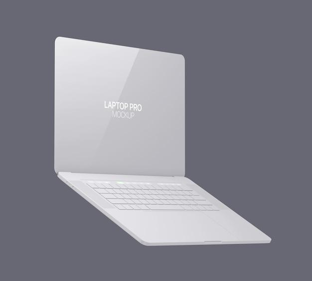 Clay laptop mockup laptop Premium Psd