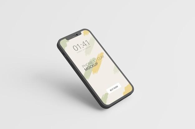 Изолированный дизайн макета экрана телефона Premium Psd