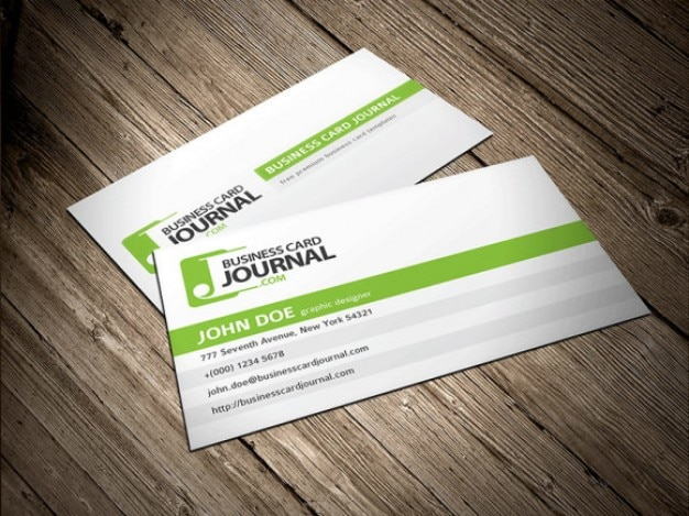clean and simple business card template free psd