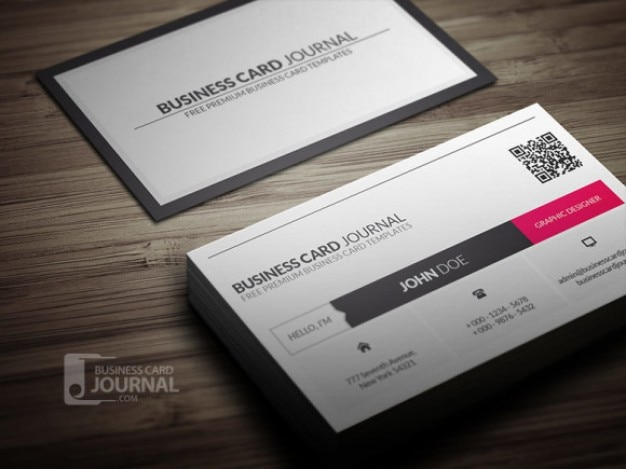 Clean business card tempate PSD PSD file