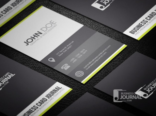 Clean business card template in metro style Free Psd