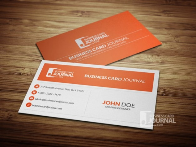 Clean Business Card Template PSD PSD File