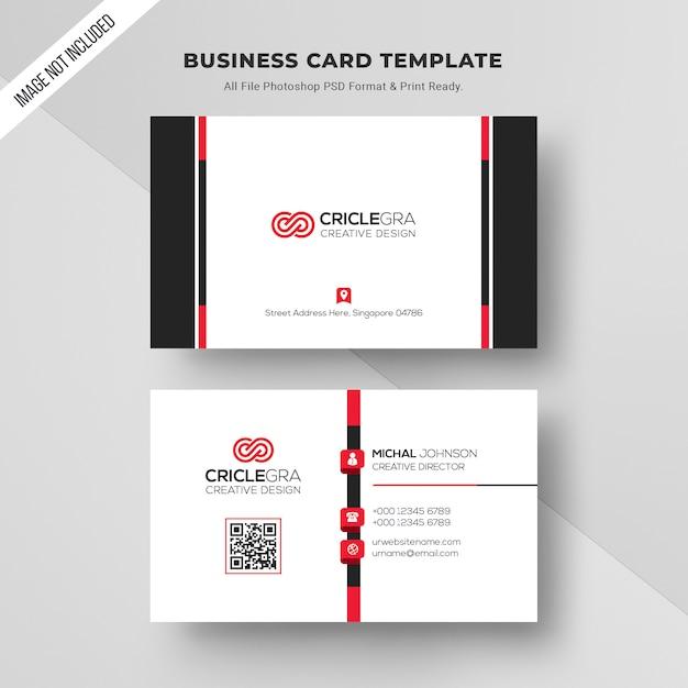Clean business card Premium Psd