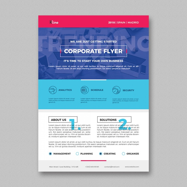 Clean corporate flyer template Free Psd