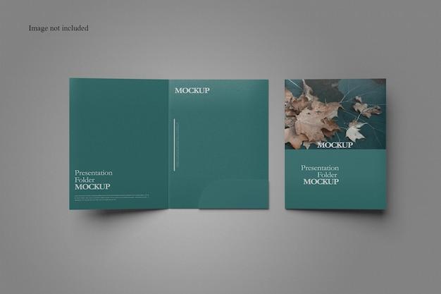 Clean document folder mockup design Premium Psd