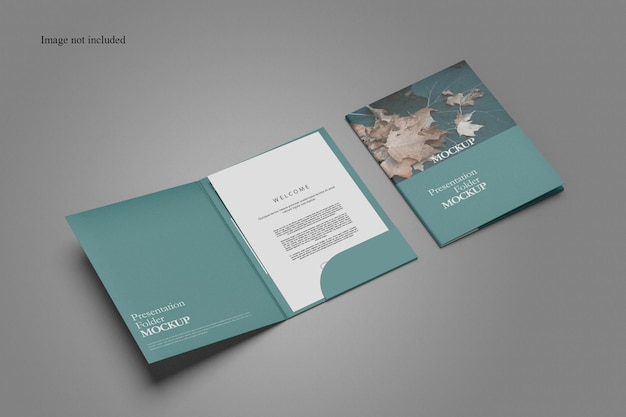 Clean document folder mockup design Premium Psd