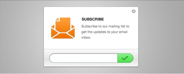 Clean Email Newsletter Subscription Form PSD PSD file | Free Download