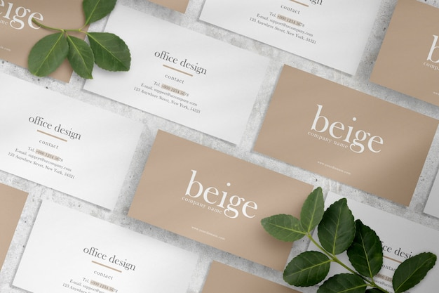 Clean minimal business card mockup Premium Psd